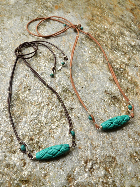 Devi Carved Wrap Necklace