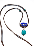Devi Lapis Leather Necklace