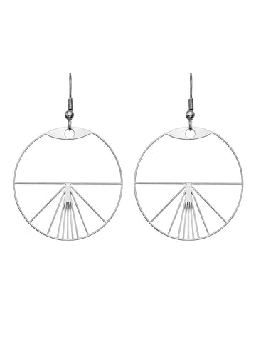 Vitruvian Man Earrings by Rael Cohen