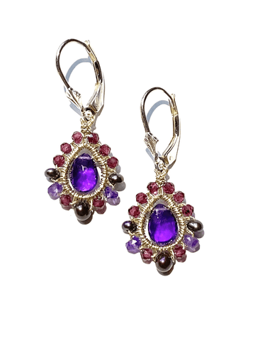 Amethyst Mandala Earrings