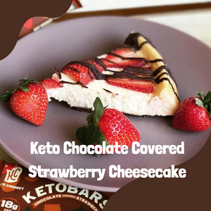 Recipe: Chocolate Covered Strawberry Keto Cheesecake