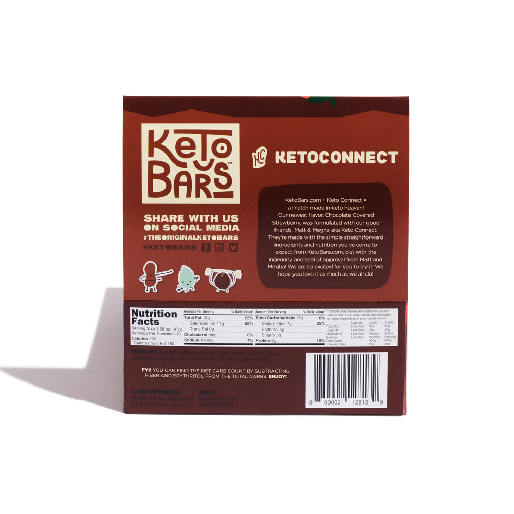 Chocolate Covered Strawberry (KetoConnect Collaboration), 10 Pack.