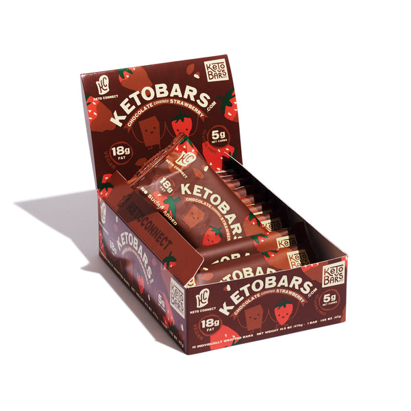 Keto Connect Collab! Chocolate Covered Strawberry, 10 Pack. Limited Edition!
