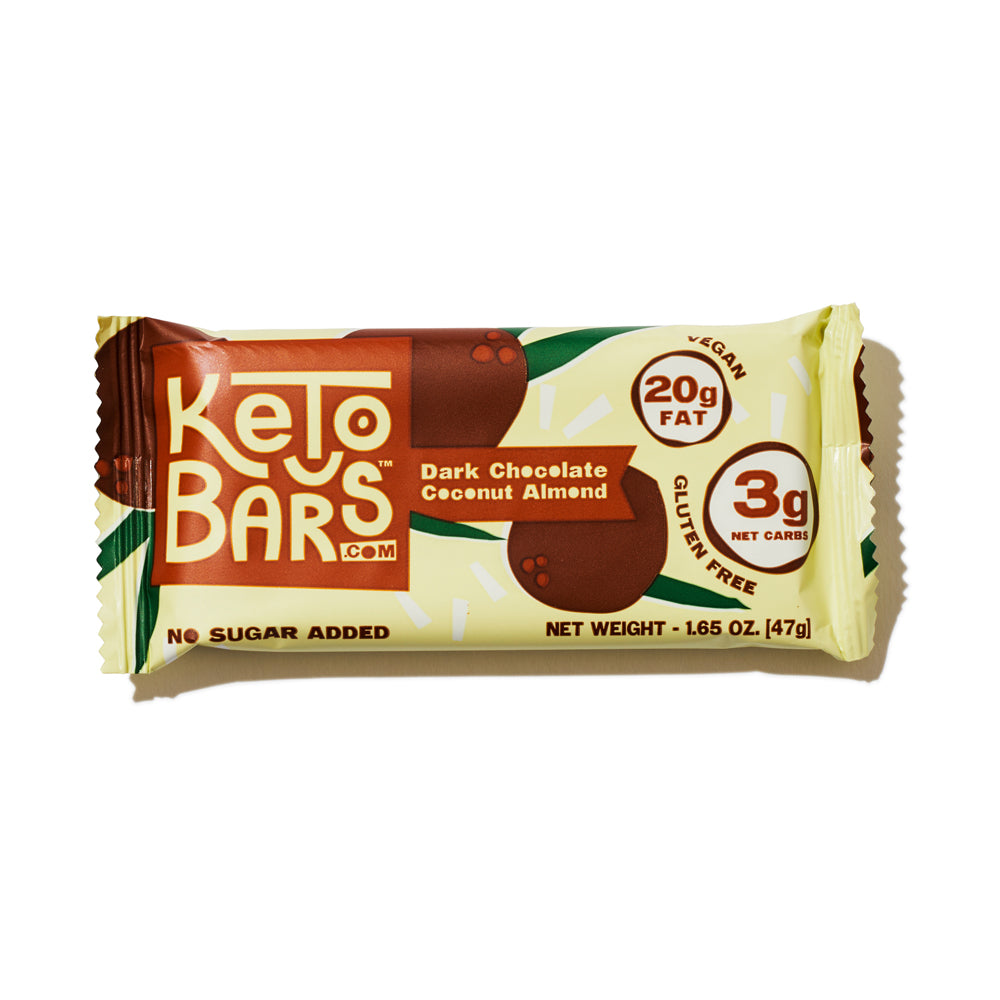 Dark Chocolate Coconut Almond Keto Bars, 10 pack.