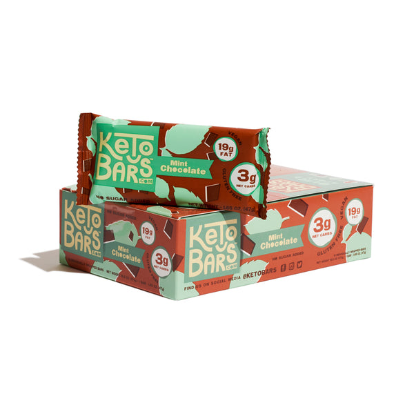 Mint Chocolate Keto Bars, 10 pack.