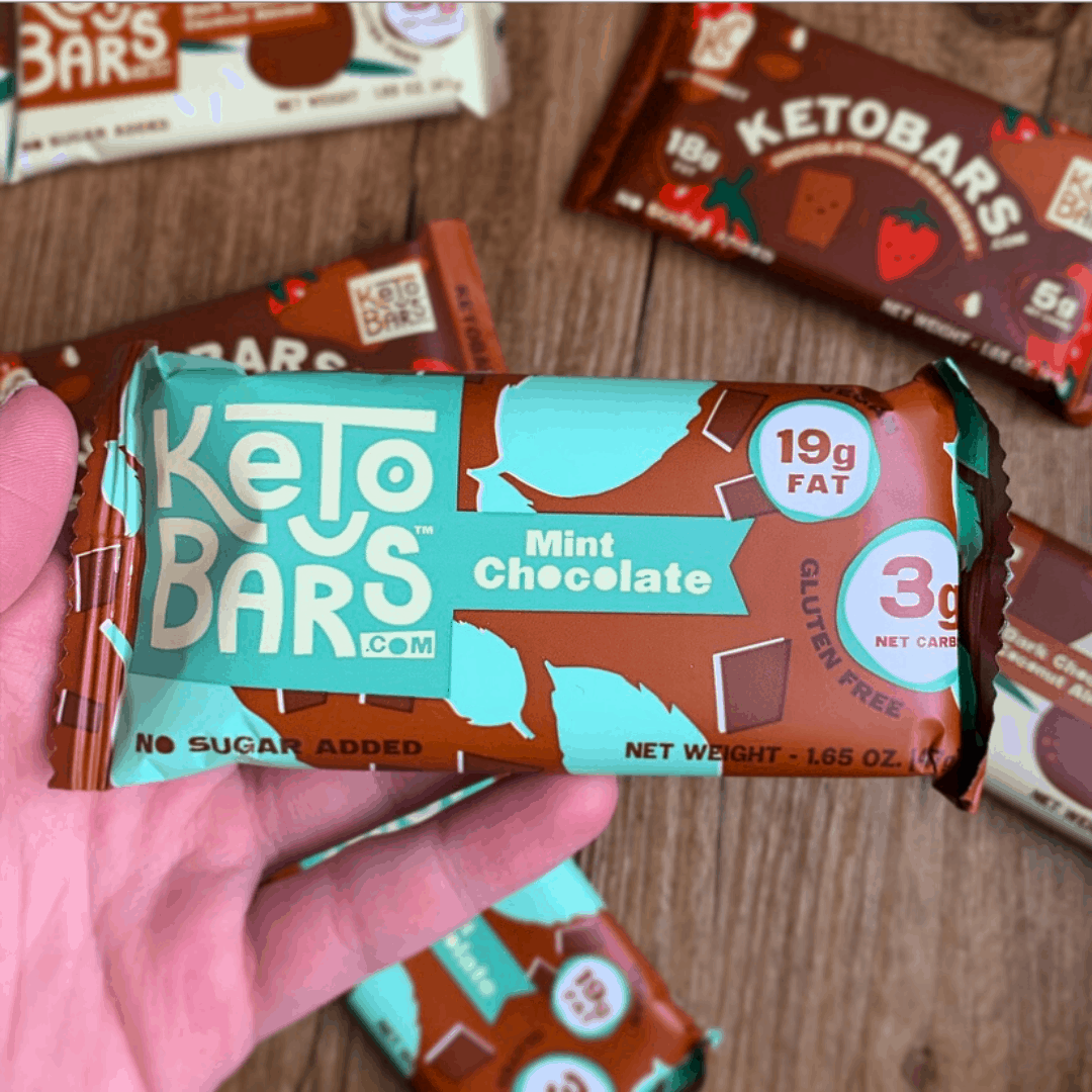 Mint Chocolate Strawberry Almond Peanut Butter Keto Bars Low Carb High Fat No Sugar