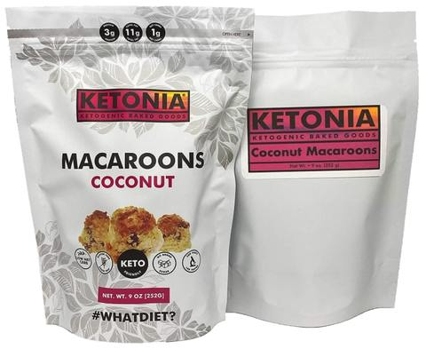 keto friendly coconut flavored macaroons
