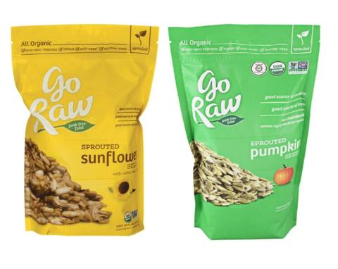 sprouted pumpkin seeds and sunflower seed low carb snacks