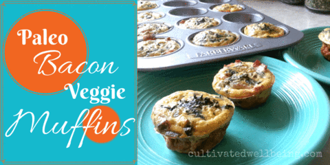 quick keto breakfast bacon and veggie muffins