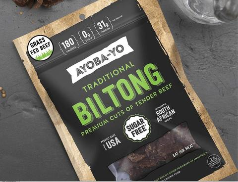 traditional grass fed biltong premium tender beef snack