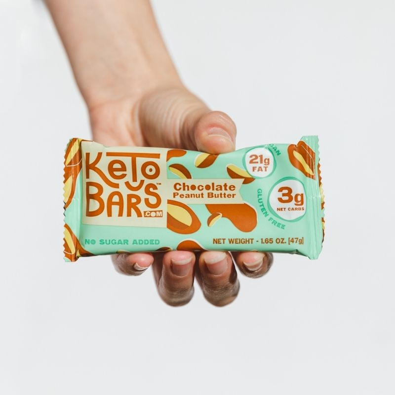 Chocolate Peanut Butter Keto Bars Low Carb High Fat No Sugar