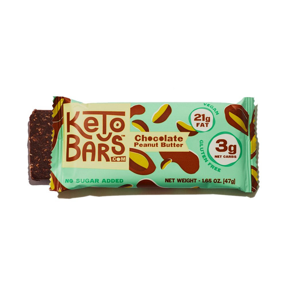 Chocolate Peanut Butter Keto Bars High Fat Low Carb