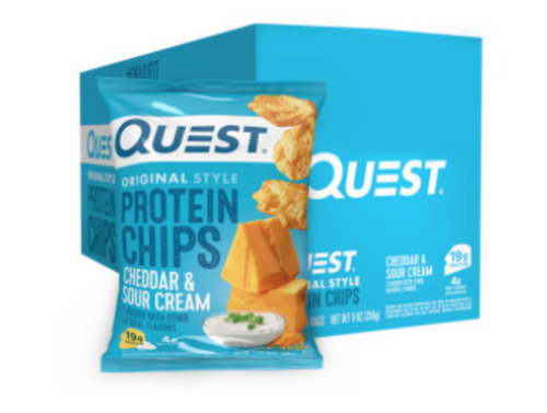 cheddar and sour cream original style protein chips