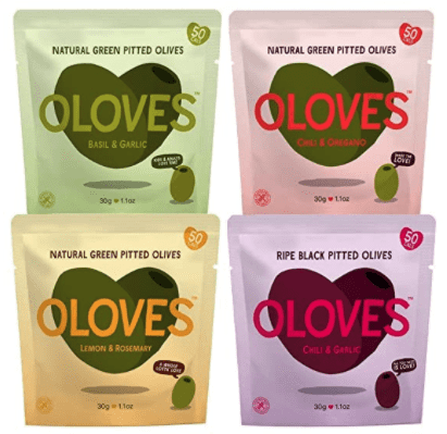natural pitted olive snack packs