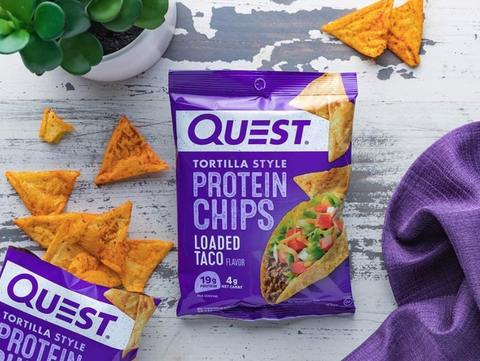 loaded taco protein style tortilla chips
