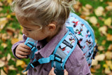 Birds Backpack S Dusty blue