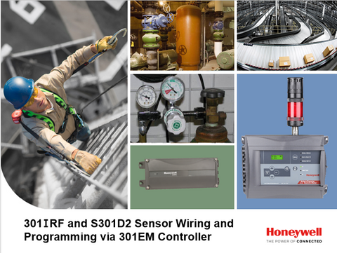 301IRF and S301D2 Sensor Wiring and Programming via 301EM Controller
