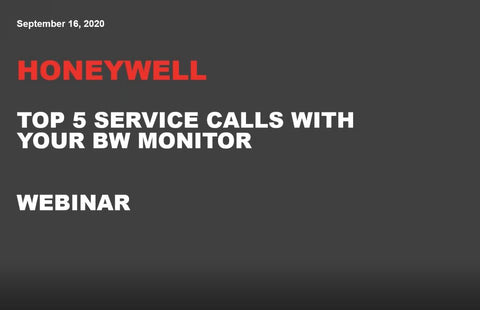 BW - Top 5 Service Calls with your BW Gas Monitor or Software  - Webinar