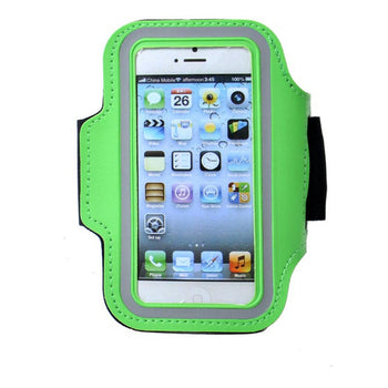 [GREEN] SPORTY Armband+ Key Holder for iPhone 5/5S/5C/4 inches Smart Phone