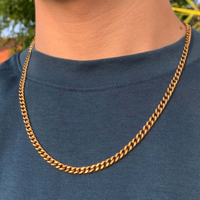 Adjustable 18k Gold Dipped Cuban Chain