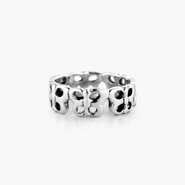 Silver Infinity Butterfly Ring