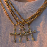 14k Gold Dipped Cross Pendant