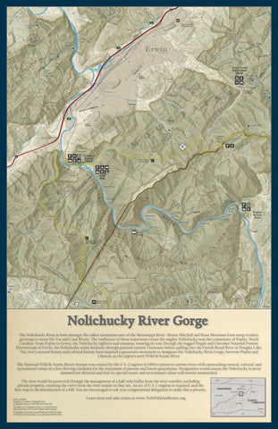 Nolichucky River Wall Map