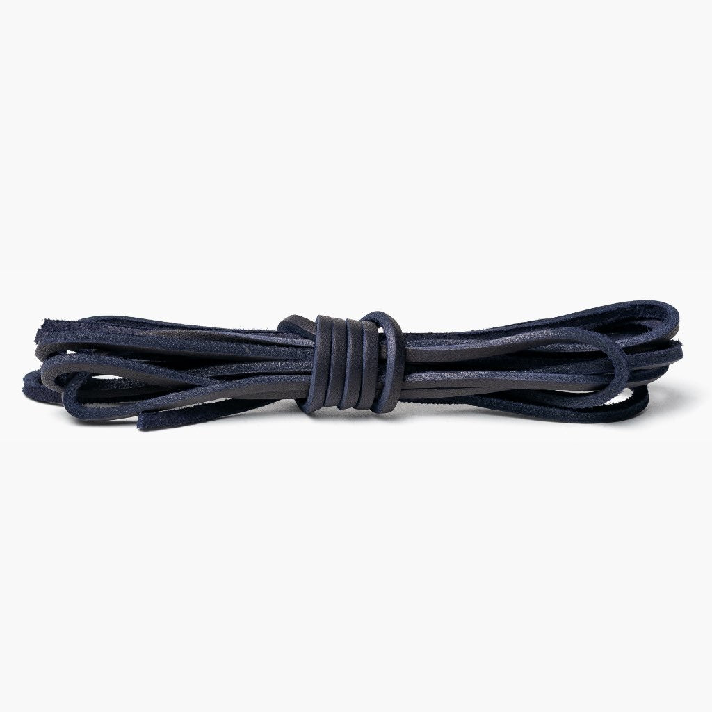 Premium Leather Laces | Indigo