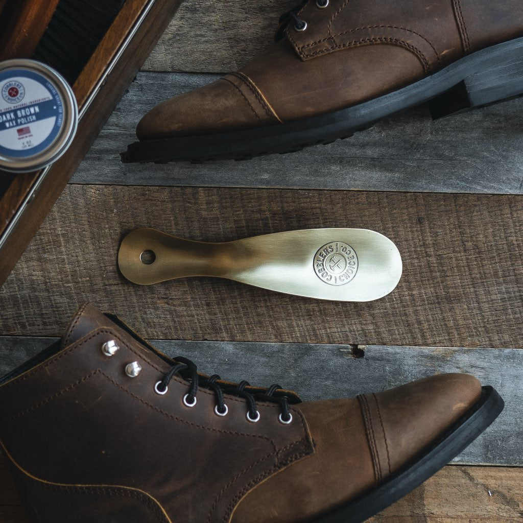 Metal Shoe Horn | Brushed Brass