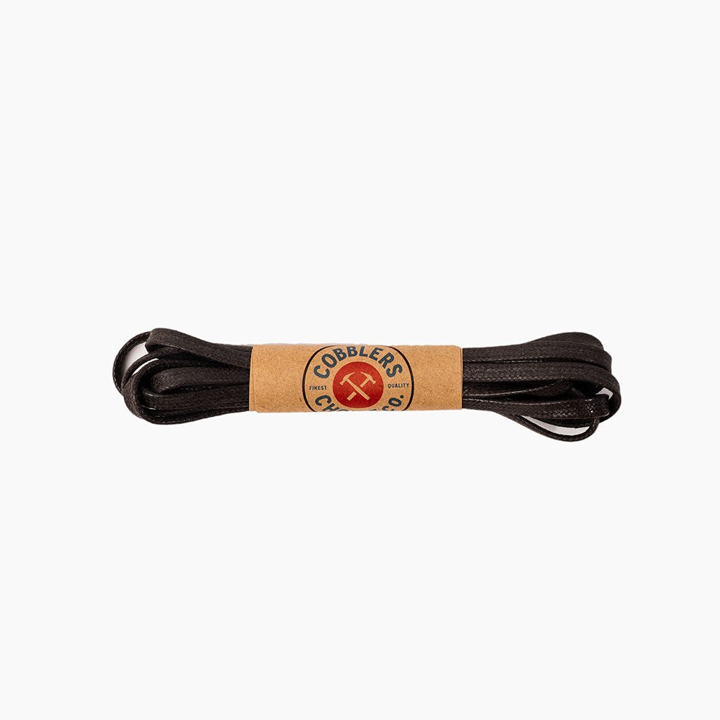 Flat Waxed Cotton Laces | Brown