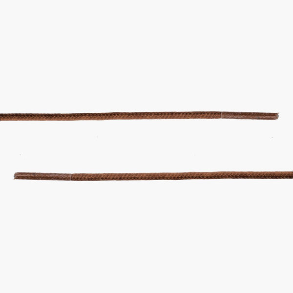 Round Waxed Cotton Laces | Light Brown