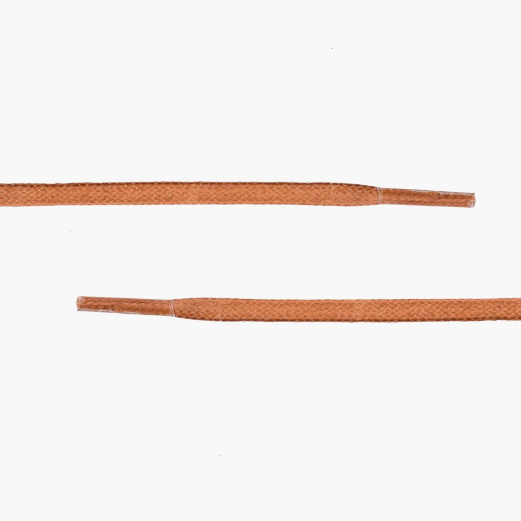 Flat Waxed Cotton Laces | Rust