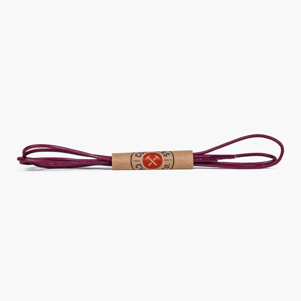 Round Waxed Cotton Laces | Plum