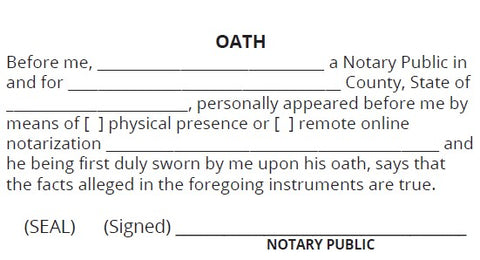 Oath Stamp