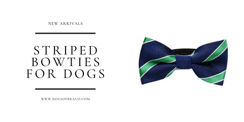 Striped Bow Ties for Dogs Gifts for Dog Lovers