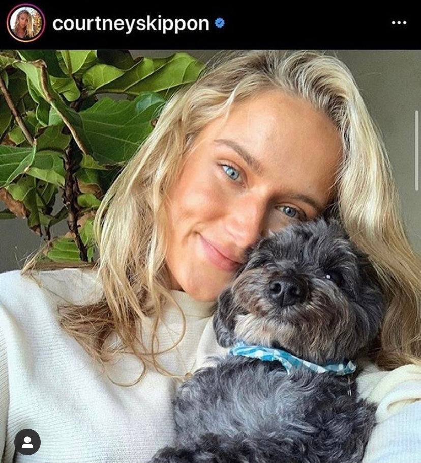 Courtney Skippon with Ollie the Doodle