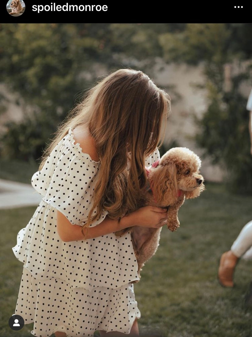 Brittany Cartwright with her dog Monroe