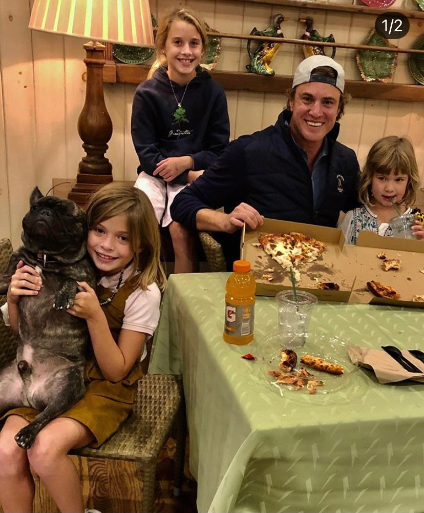 Shep Rose and his nieces with Little Craig the French Bulldog