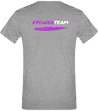 POWER TEAM- MOTIF DEVANT ET DOS  | T-shirt Col V Homme 180g