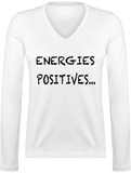 ENERGIES POSITIVES | T-shirt Manches Longues Col V Femme
