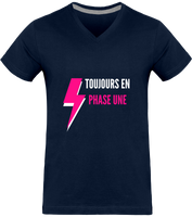 TOUJOURS EN PHASE UNE | T-shirt Col V Homme 180g