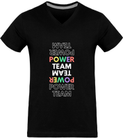 POWER TEAM | T-shirt Col V Homme 180g