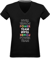 POWER TEAM | T-shirt Col V Femme 180 gr
