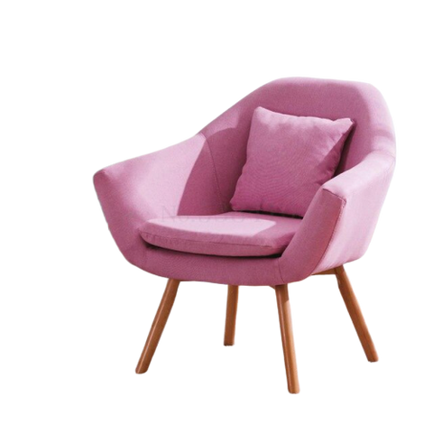 Chaise Style Scandinave Rembourrée Rose