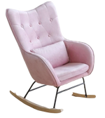 Chaise a Bascule Scandinave Rose