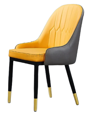 Chaise Simili Cuir Orange