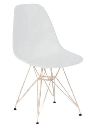 Chaises Scandinaves Blanches Style Eiffel