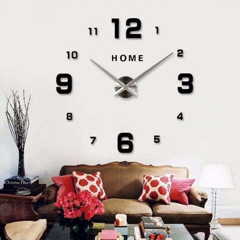 Horloge Scandinave Simple Noire | Chaises Scandinave
