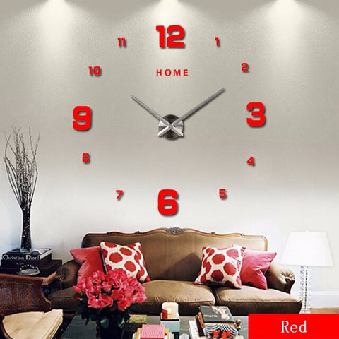 Horloge Scandinave Simple Rouge | Chaises Scandinave