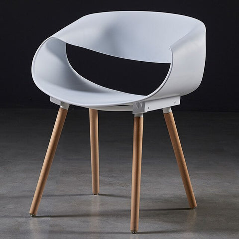 Chaise Scandinave Minimaliste Blanche